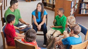 Students participating in Restorative Discipline