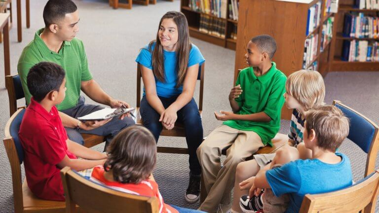 Students participating in Restorative Discipline