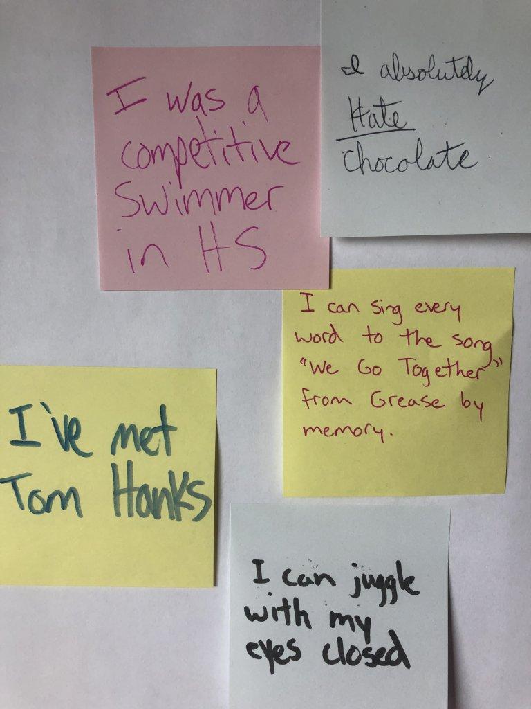 Sticky Note Team Building Activity