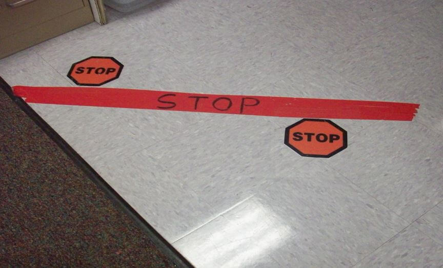 Classroom Setup during COVID: Floor Tape